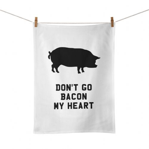 Funny Kitchen Song Lyrics Don't Go Bacon My Heart Tea Towel